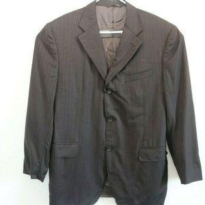 Canali Pinstripe Sport Coat Suit Jacket
